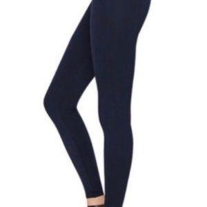 Spanx navy blue hi-waist seamless leggings